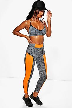 Lauren Neon Stripe Legging With Zip