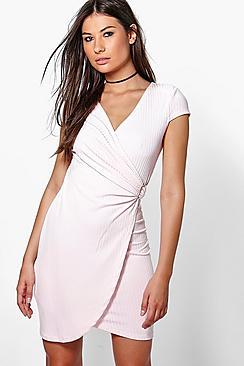 Summer Wrap Front Buckle Dress