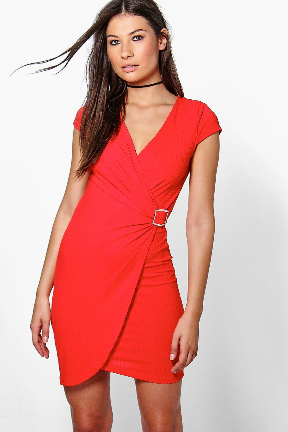 Summer Wrap Front Buckle Dress