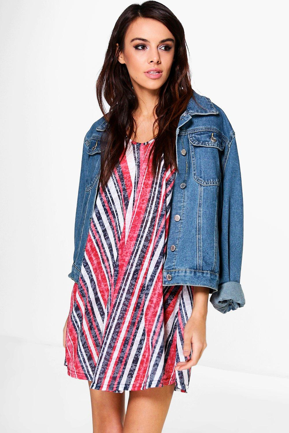 Olivia Printed Strappy Swing Beach Dress