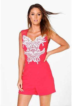 Lily Lace Detail Playsuit