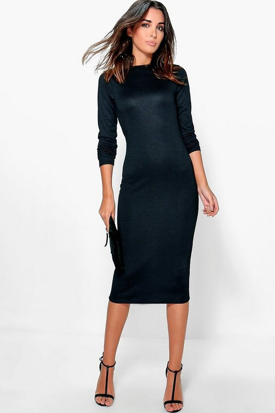 Fiona Textured Midi Dress
