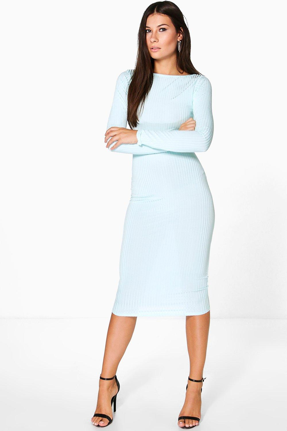 Fiona Ribbed Midi Dress