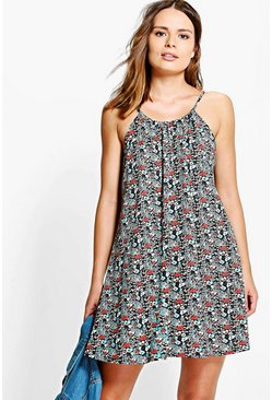 Katie Printed Swing Dress