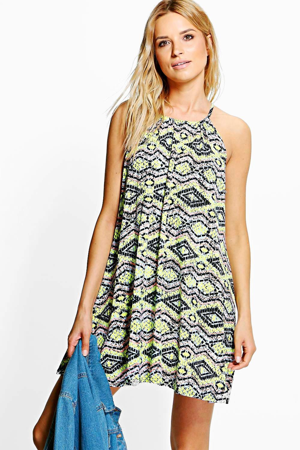 Leah Printed Swing Dress