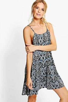 Grace Printed Swing Dress