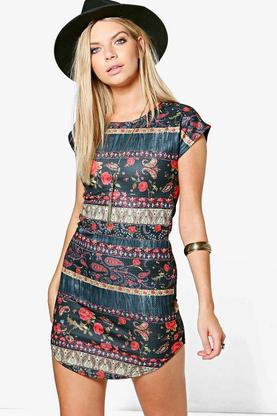 Zoey Curved Hem Dress