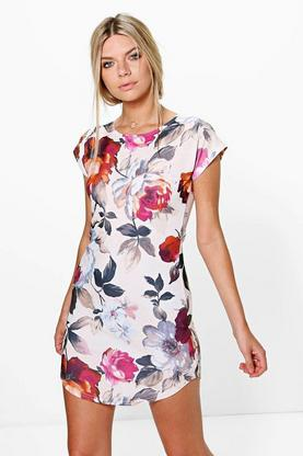 Amelia Curved Hem Dress