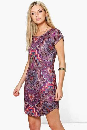 Lydia Curved Hem Dress