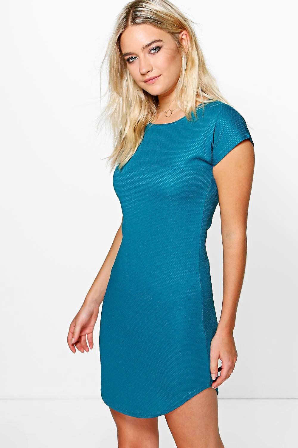 Indea Curved Hem Dress