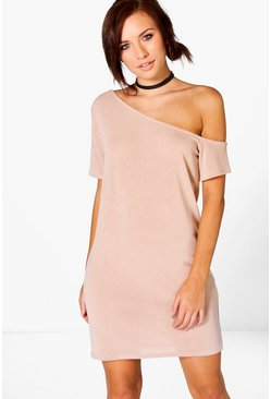 Jess Knitted Off The Shoulder Slouchy Dress
