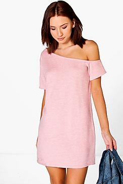 Freya Knitted Off The Shoulder Slouchy Dress