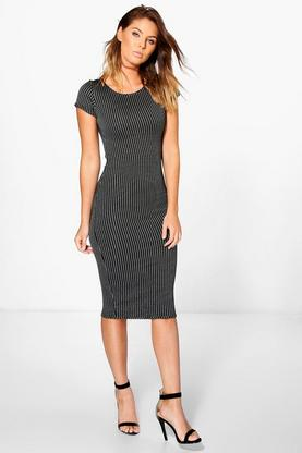 Poppy Cap Sleeve Midi Bodycon Dress