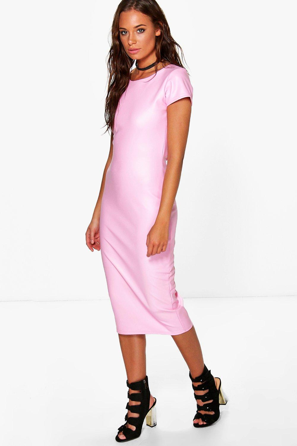 Lilly Cap Sleeve Midi Bodycon Dress