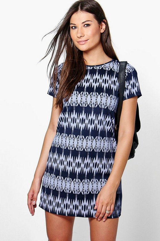 Tara Printed Shift Dress