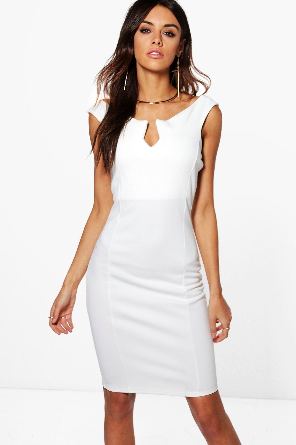 Ruby Notch Neck Bodycon Dress