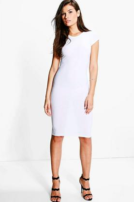 Caroline Textured Bodycon Midi Dress