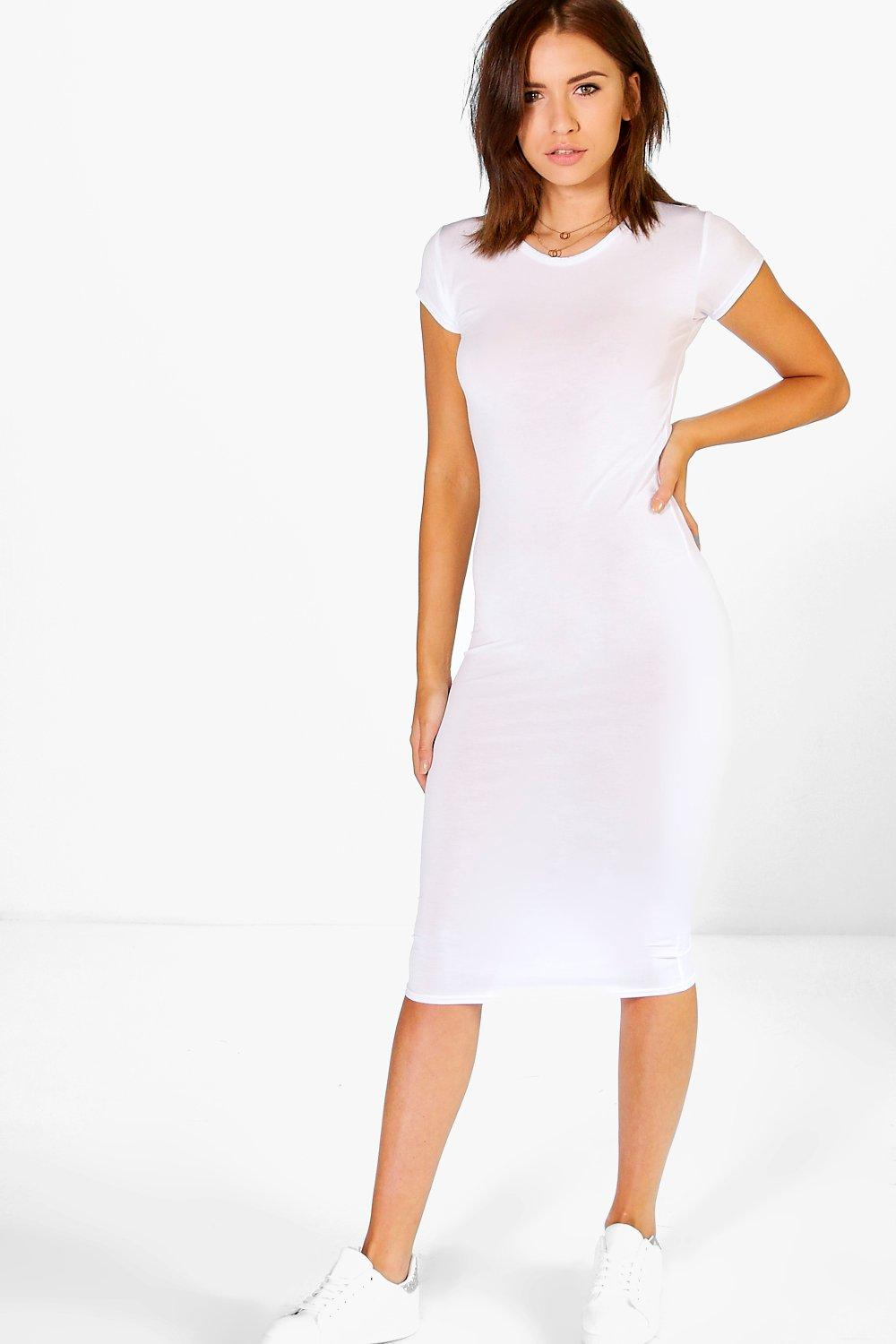 Phoebe Bodycon Plain Dress