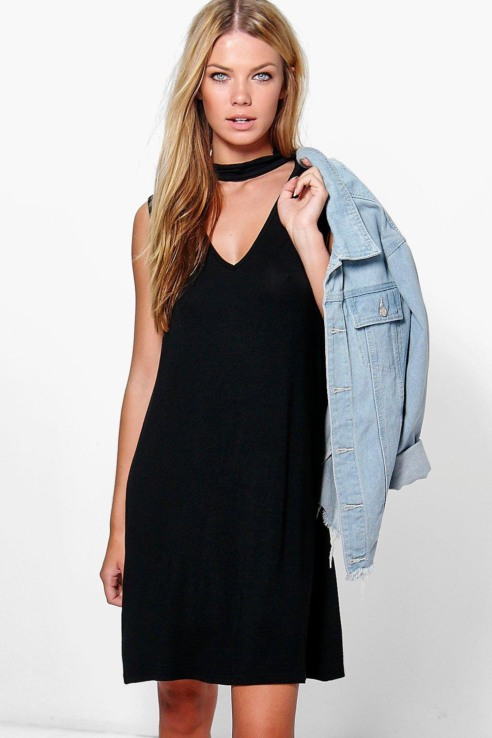 Elizabeth Sleeveless Choker Mini Dress