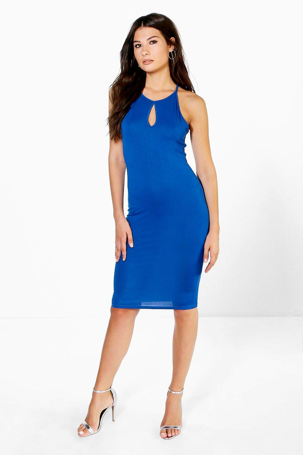 Jasmine Racer Neck Keyhole Mini Dress