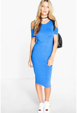 Lacey Cold Shoulder Midi Dress
