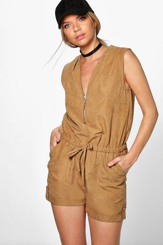 Abigail Zip Front Playsuit