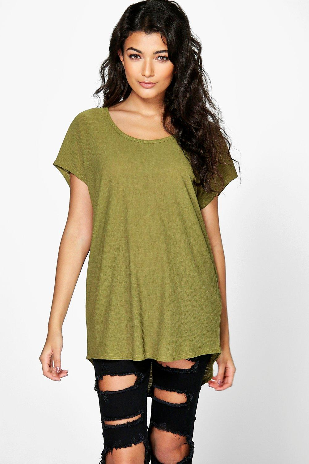 Megan Textured Oversized T-Shirt
