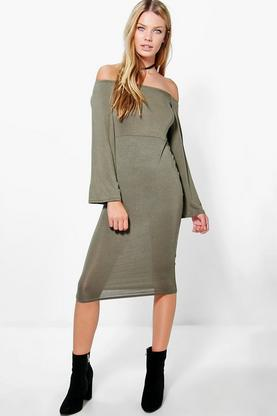 Freya Off The Shoulder Midi Dress