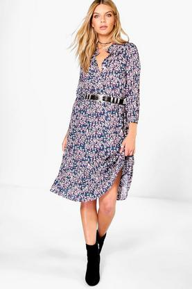 Megan Printed Midi Dress
