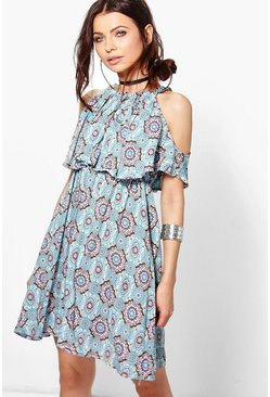 Holly Strappy Printed Dress