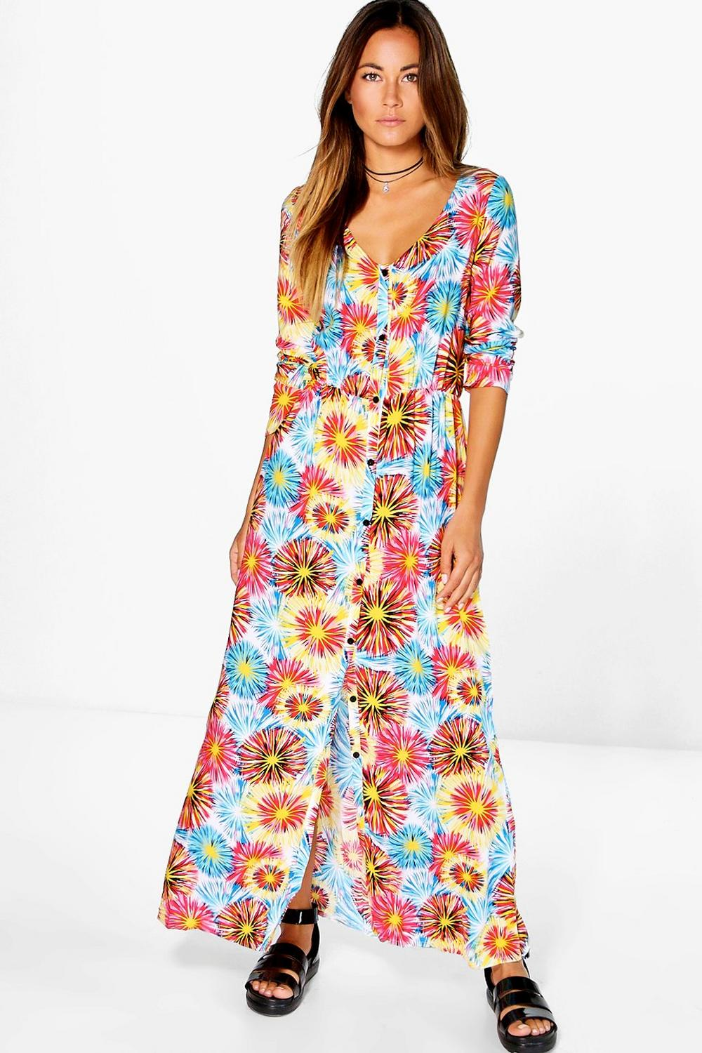 Sophia Printed Maxi Dress