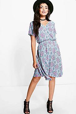 Poppy Printed Tea Dress