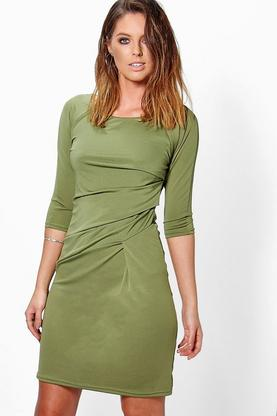 Grace Ruched Shift Dress