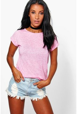 Esther Turn Back Cuff Tee