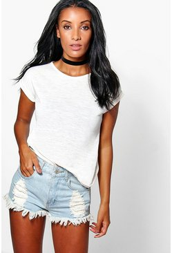 Darcey Turn Back Cuff Tee