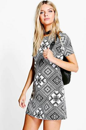 Niamh Printed Shift Dress