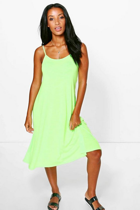 Mya Strappy Swing Beach Dress