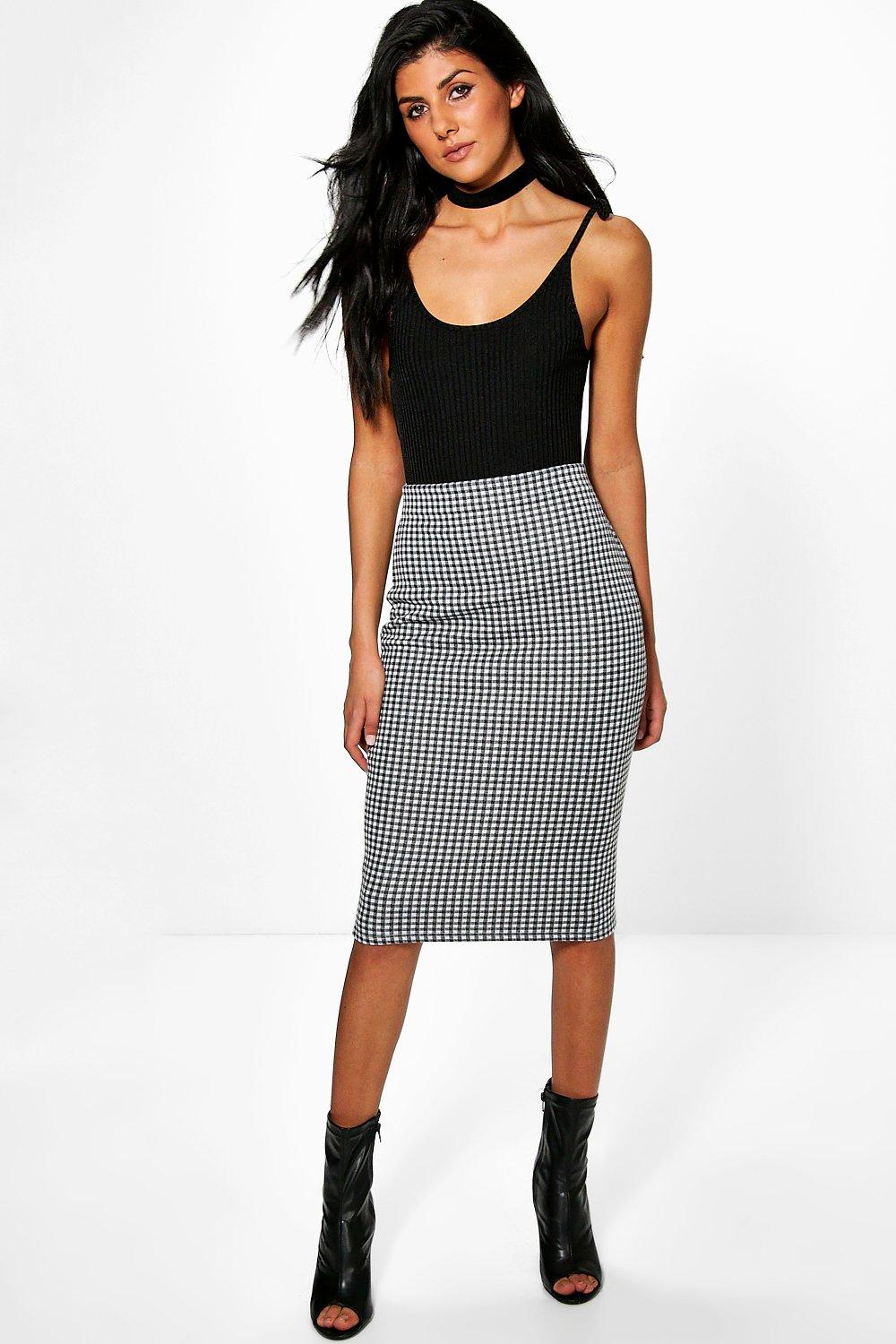 Check Skirt grey
