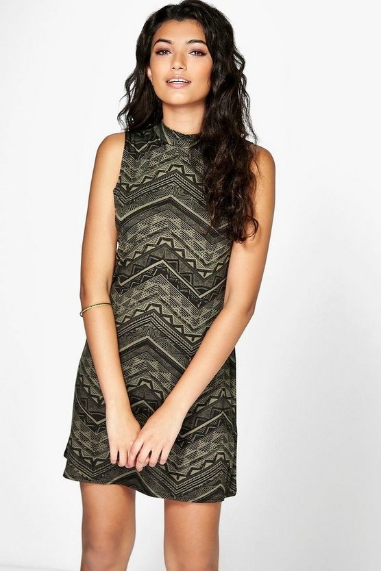 Amber High Neck Tunic Dress