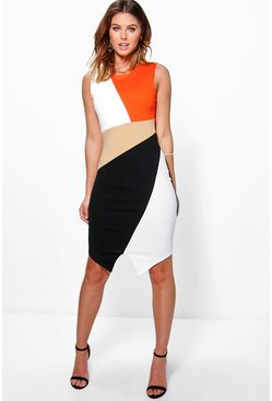 Mia Colour Block Bodycon Dress
