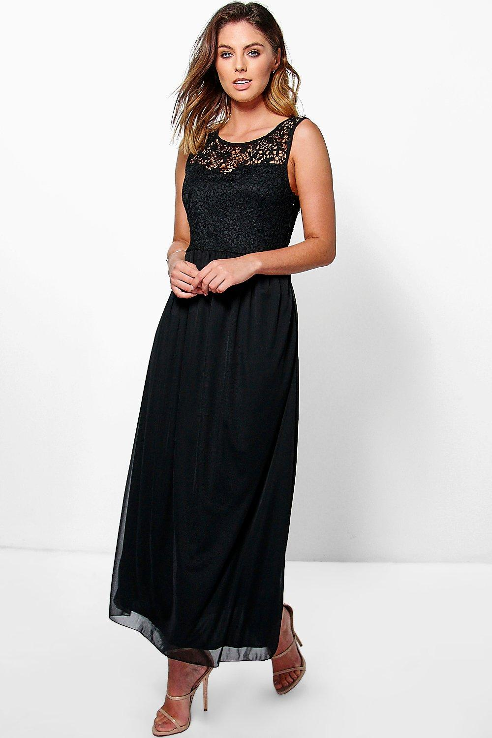 Lexi Lace Trim Maxi Dress