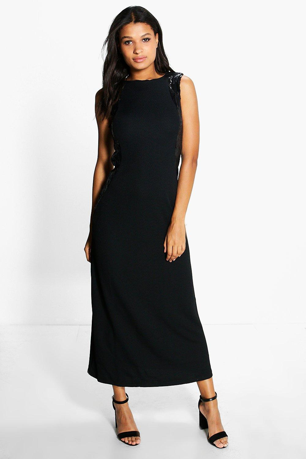 Layla Side Sequin Maxi Dress