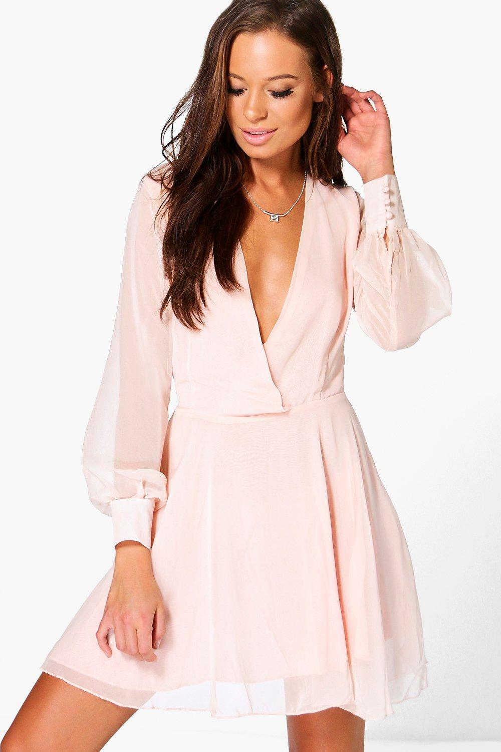 Maisie Plunge Chiffon Dress