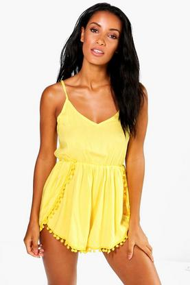 Ava Pom Pom Trim Playsuit