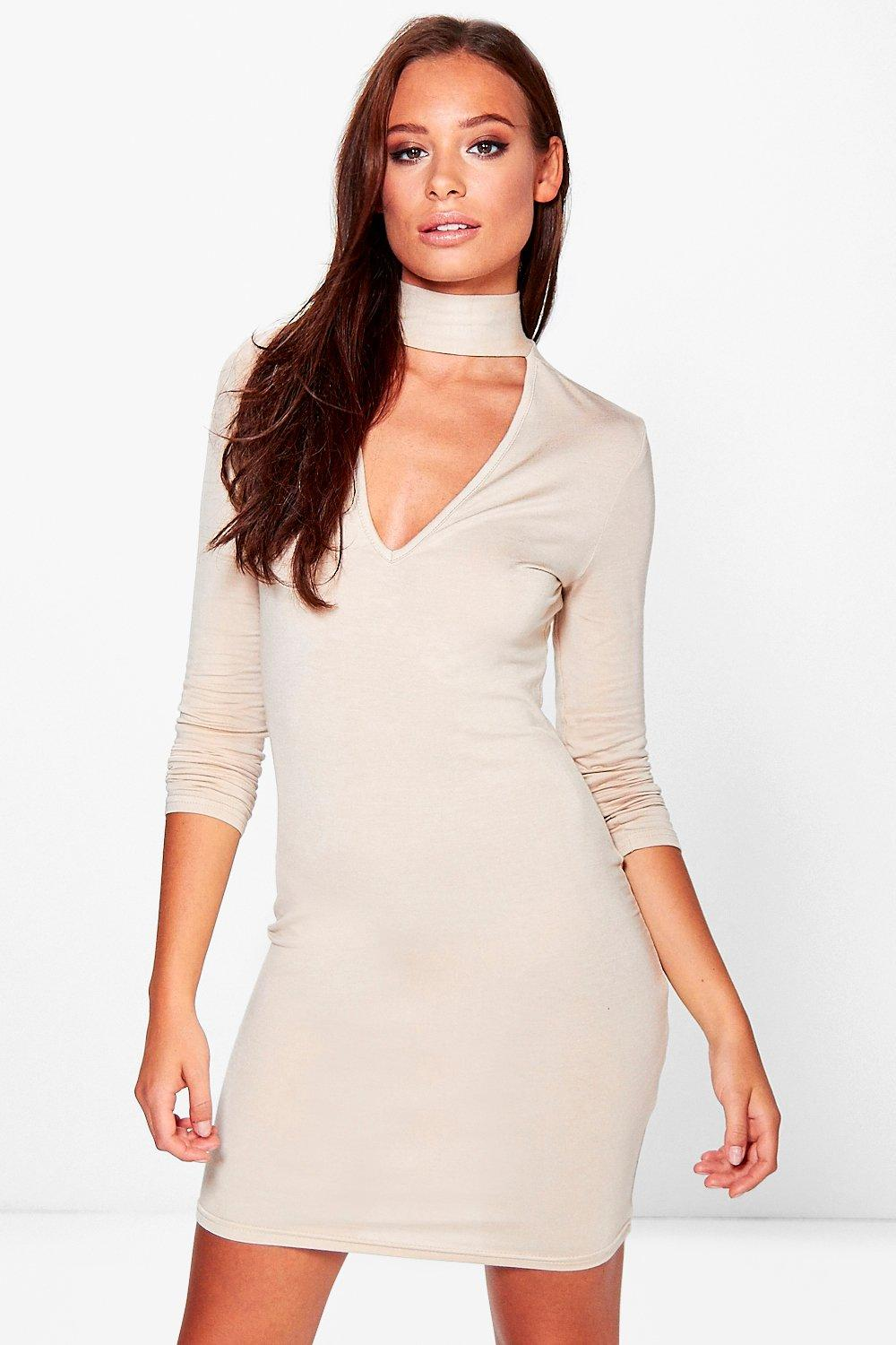 Molly Choker Plunge Bodycon Dress
