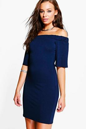 Elizabeth Bardot Frill Sleeve Dress