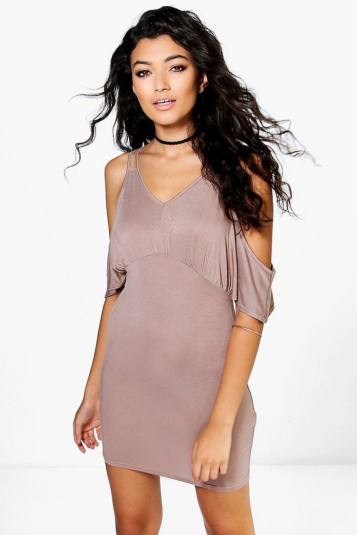 Florence Strappy Cold Shoulder Dress