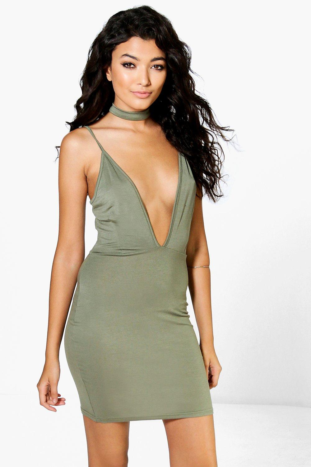 Jasmine Choker Strappy Bodycon Dress