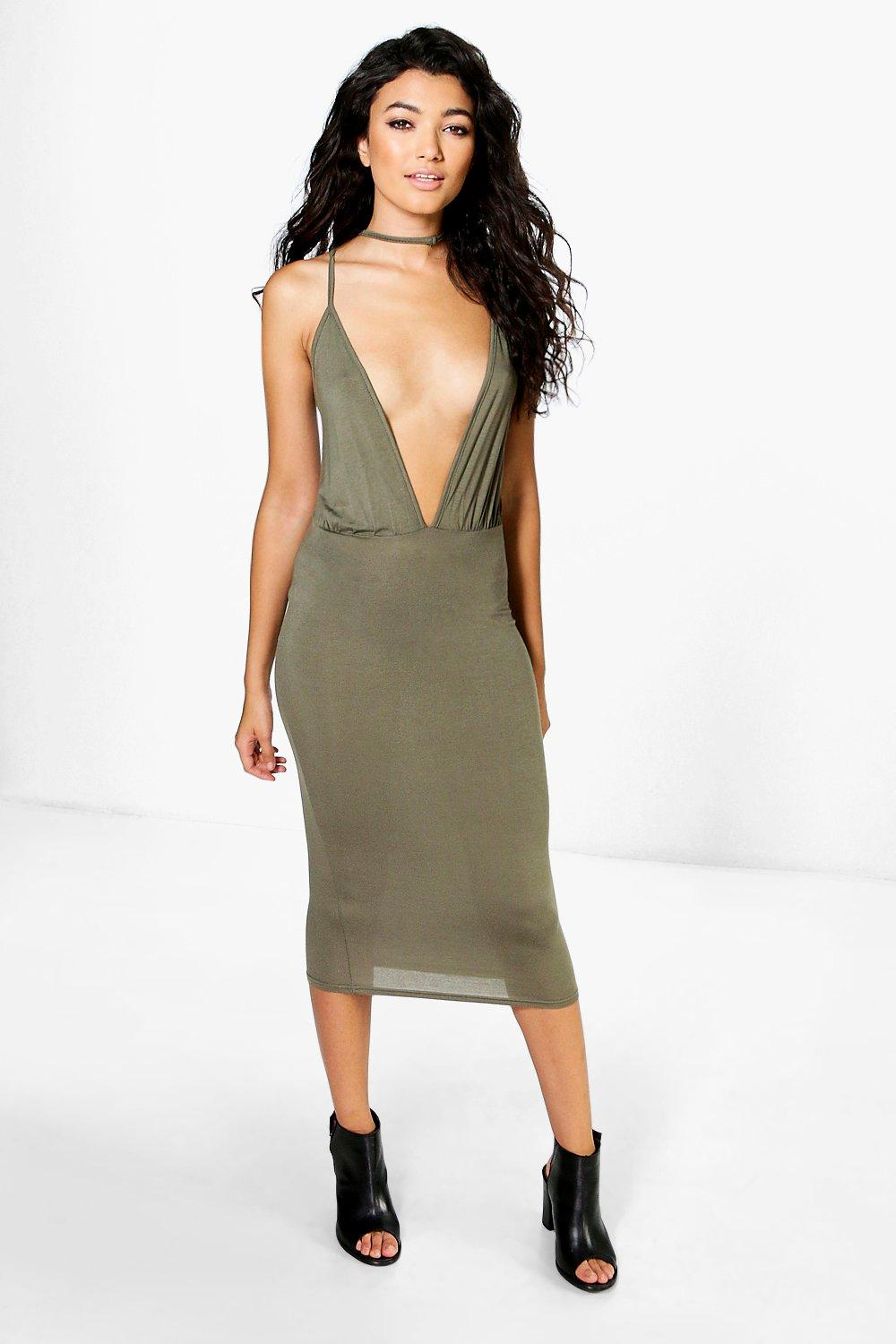 Lola Strappy Caged Bodycon Dress