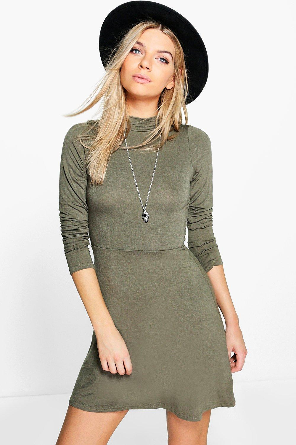 Layla Turtleneck Skater Dress